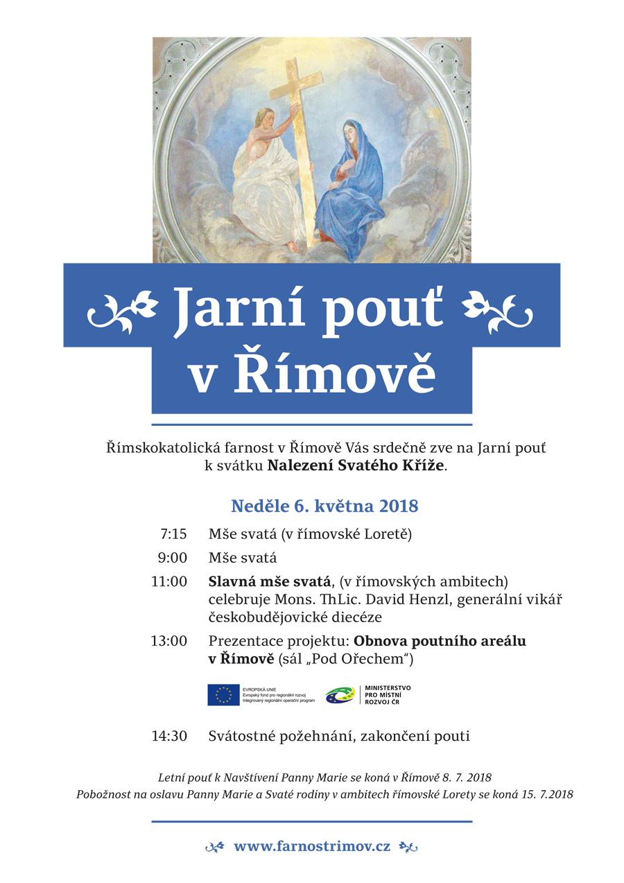 Pozvanka na Jarni pout v Rimove 2018