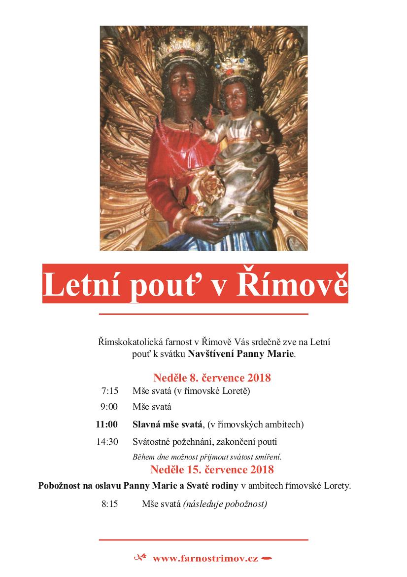Pozvánka na Letní pouť v Římově