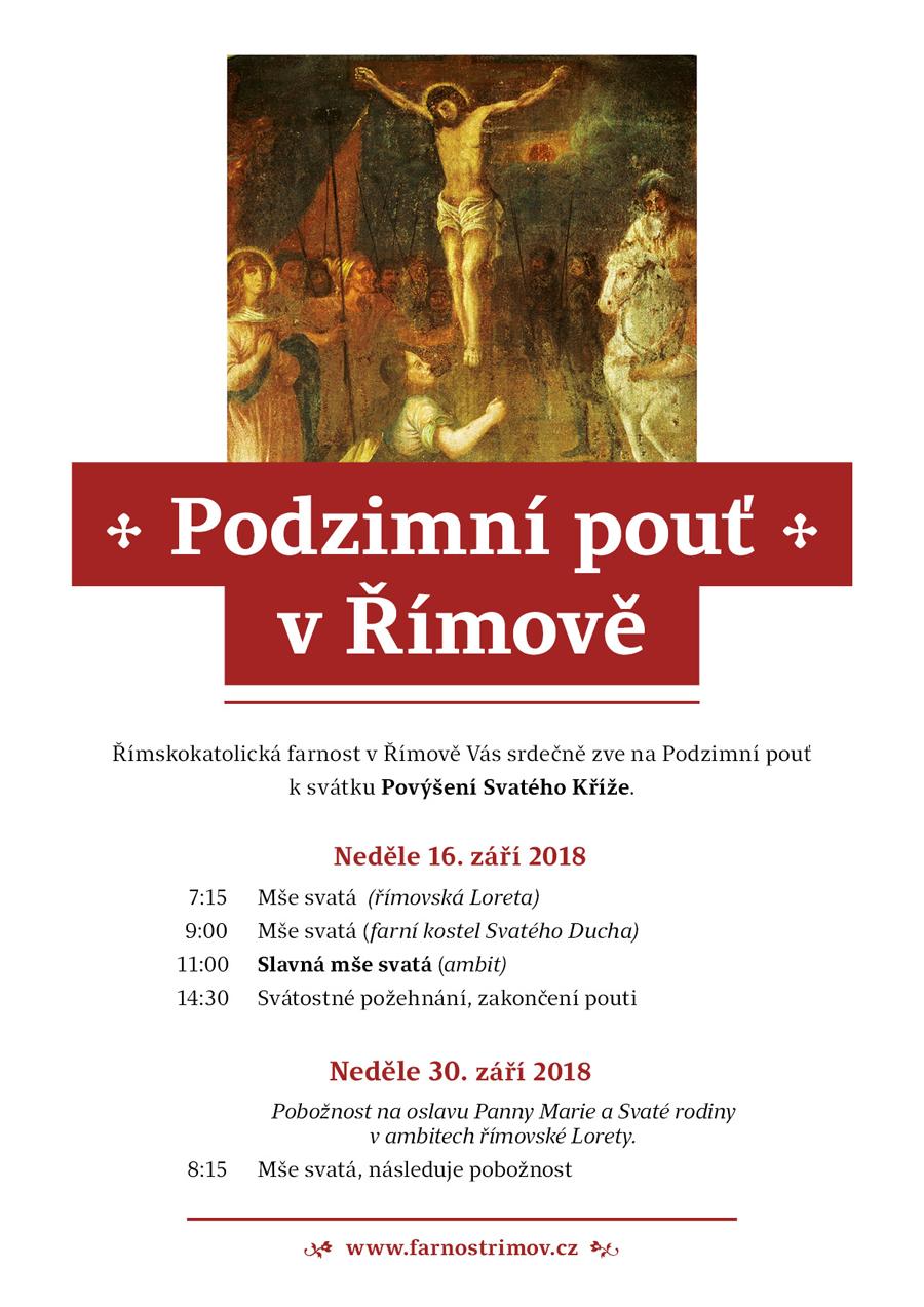 Pozvánka na Podzimní pouť v Římově