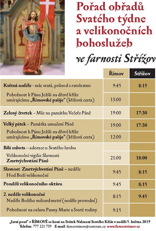 Plakátek - velikonoce Střížov 2019